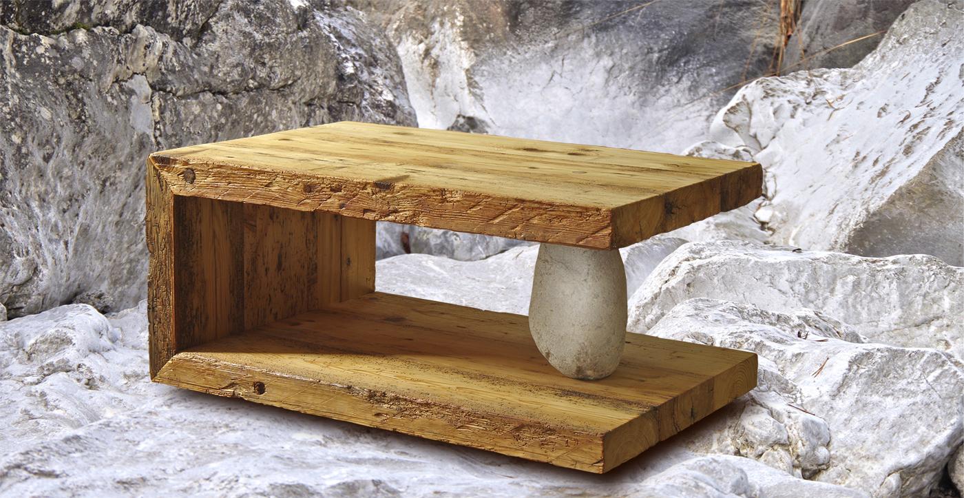 Echte Desigernunikateaus jahrhundertealtem Alpenholz